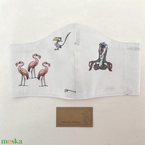 Oroszlánkirály, meditáló majom és Zazu mintás arcmaszk, szájmaszk, maszk - XS méret! - Artiroka design - Meska.hu