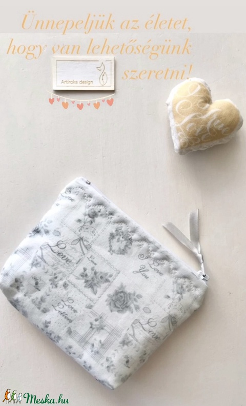 Love letters - feliratos irattartó pénztárca  - Artiroka design - Meska.hu