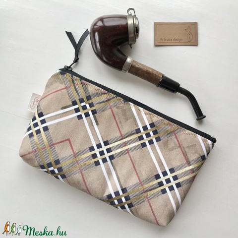 Burberry kockás prémium irattartó neszesszer, mobiltok, szemüvegtok, tolltartó, pipa dohánytartó  -  Artiroka design - Meska.hu