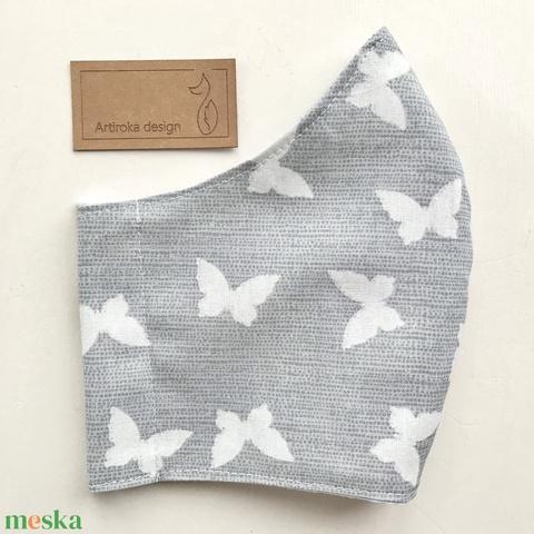 Pillangó mintás női arcmaszk, szájmaszk, maszk, gyerekmaszk - Artiroka design - Meska.hu