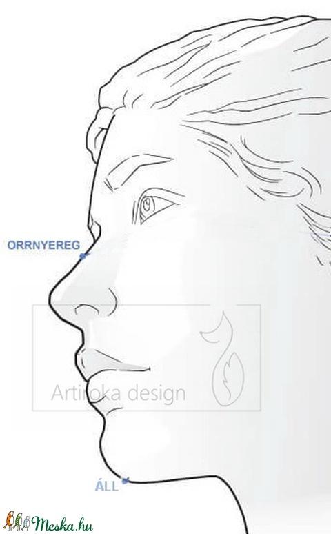 Fecske madár váró, okker színű szájmaszk, maszk, arcmaszk - Artiroka design - Meska.hu