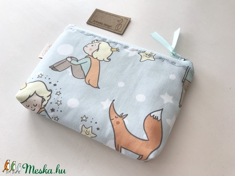 Kis herceg és a róka mintás prémium irattartó pénztárca, neszesszer - Artiroka design - Meska.hu