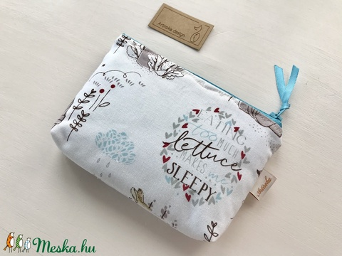 Beatrix Potter nyuszi mintás, kétrekeszes irattartó pénztárca - Artiroka design  - Meska.hu