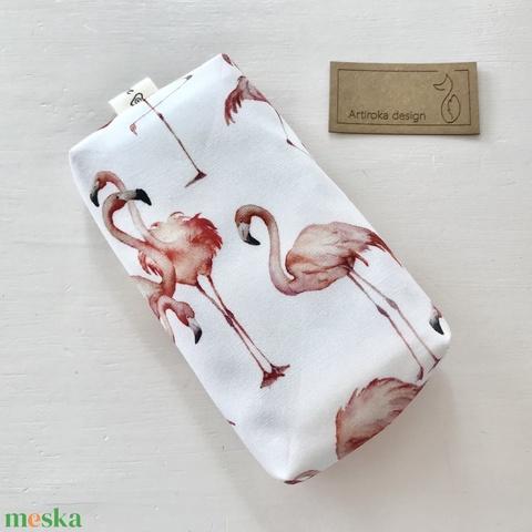 Flamingó  mintás papírzsebkendő tartó - Artiroka design- Anyák napja - Meska.hu