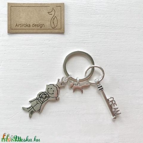 Exupery - A kis herceg és a róka - egyedi kulcstartó egy dream, azaz álom kulcs dísszel - Artiroka design - Meska.hu