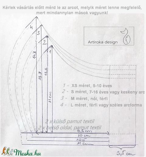 Meggyes sütemény mintás arcmaszk, szájmaszk, gyerekmaszk - süti   -Artiroka design - Meska.hu