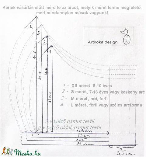 Unikornis mintás maszk, szájmaszk gyerekmaszk  -  Artiroka design  - Meska.hu