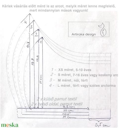 AKCIÓ - Kiskutya  mintás arcmaszk, szájmaszk, maszk, gyerekmaszk- - Artiroka design - Meska.hu