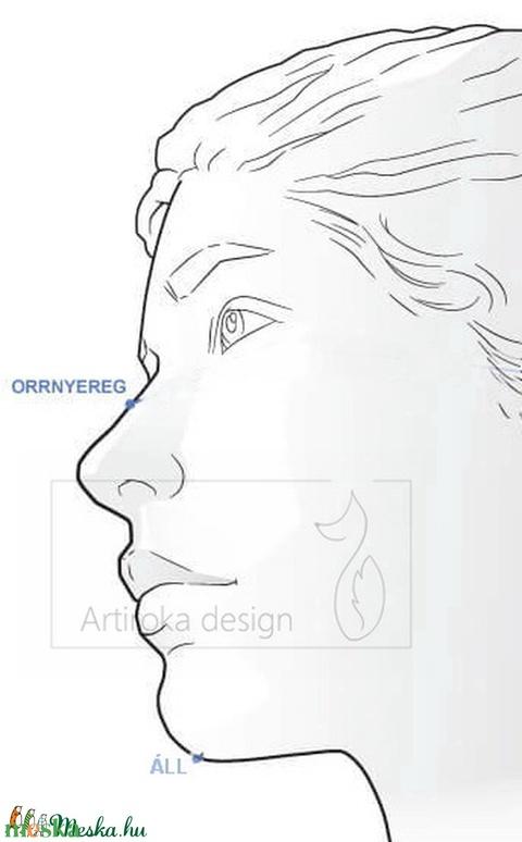 XL nagyságú sötétkék egyszínű arcmaszk, szájmaszk, maszk - AKCIÓ - Artiroka design - Meska.hu