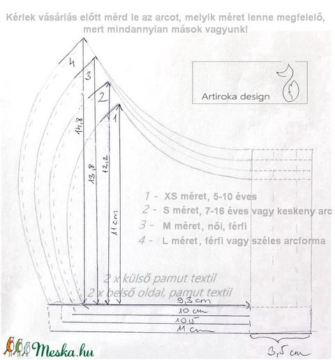 Fekete - fehér tappancsos szájmaszk, maszk - Artiroka design - Meska.hu
