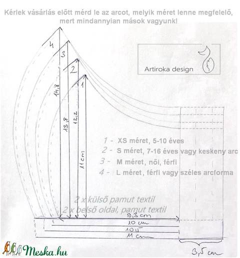 Süni mintás arcmaszk, szájmaszk - Artiroka design  - Meska.hu