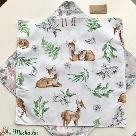 Őzike mintás zsebkendő vagy szalvéta szett - NoWaste - Bambi - Meska.hu
