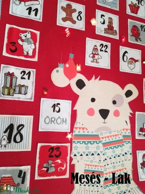 Adventi naptár , kalendárium , led izzós  (Meseslak) - Meska.hu