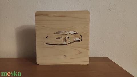 Lamborghini sportautó mintájú fenyő hangulatlámpa - Meska.hu