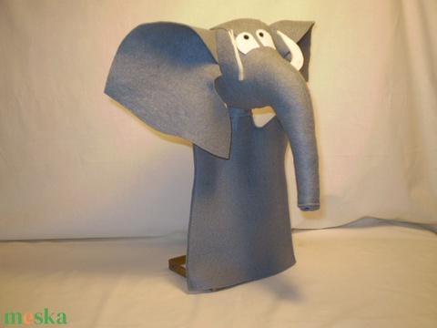 Elefánt kézbáb (Mikildi) - Meska.hu