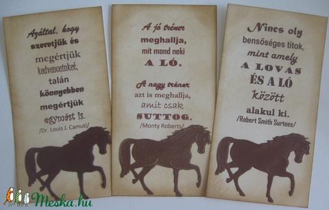 Lovas könyvjelző / emléklap felirattal, névvel, eseményfelirattal- csoportoknak, versenyzőknek (Milevi) - Meska.hu