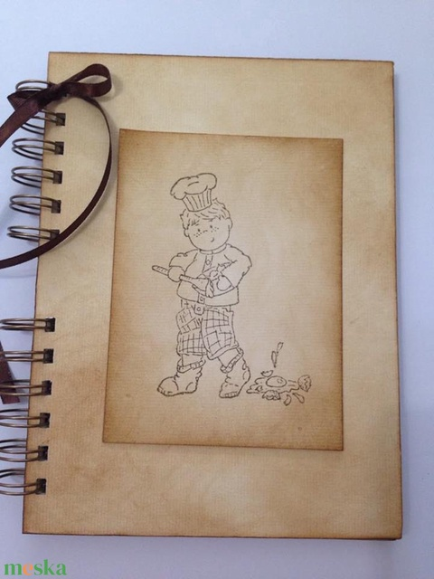 Szakácskönyv - babaételek - gyermekreceptek - régóta őrzött receptek - szakácsfiú - emlék - ajándék - Meska.hu