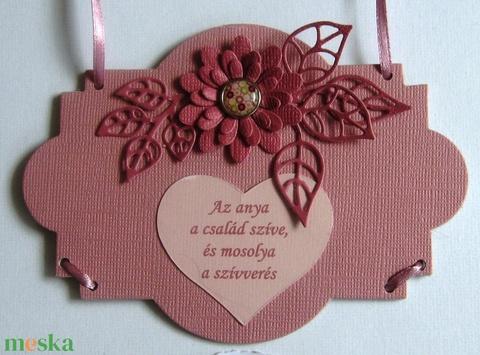 Anyák napja -Virág helyett -  falitábla - idézettel - egyéb felirattal, házi áldás soraival - egyedi termék - örök emlék - Meska.hu