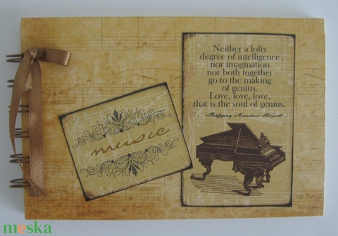 Zenekedvelőknek, zeneiskolásoknak, rendezvény-ajándék - kotta - violin -  mini album - ballagás - örök emlék - egyedi (Milevi) - Meska.hu
