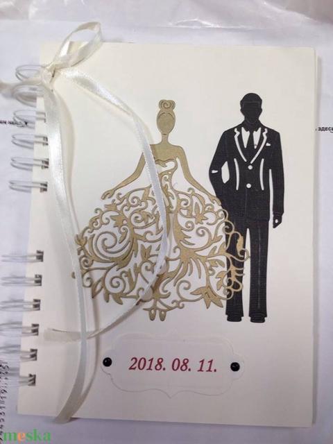 Vendégkönyv - album - jókívánságkönyv - menyasszony-vőlegény album - készülődés pillanatai - örök emlék - kézzel készült (Milevi) - Meska.hu