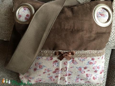 Rózsás velúr táska (mimii) - Meska.hu