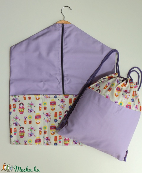 Oviszsák - tornazsák lila babás (Mimmoza) - Meska.hu