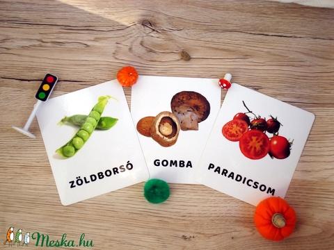 Tanulókártya-Zöldségek (miniPAKLI) - Meska.hu