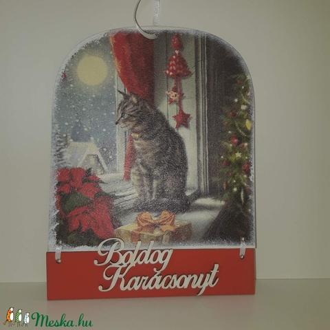 Karácsonyi mintás üdvözlőtábla (missyszmo) - Meska.hu