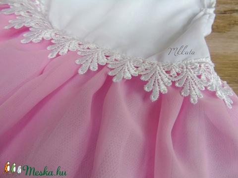 Alkalmi ,keresztelő kislány ruha+fejpánt  - ruha & divat - babaruha & gyerekruha - keresztelő ruha - Meska.hu