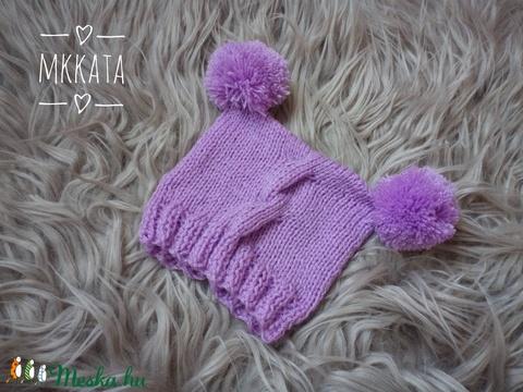 Újszülött  kötött sapka 0-3 hó  (Mkkata) - Meska.hu