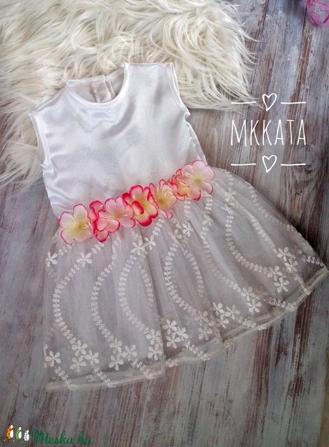 Alkalmi ,keresztelő kislány ruha 74-es méret  - Meska.hu