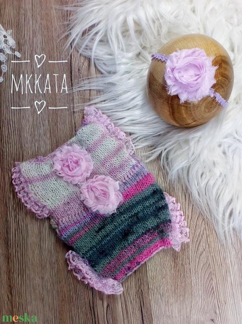 Kötött újszülött szett 0-2 hónapos méret  - ruha & divat - babaruha & gyerekruha - body - Meska.hu