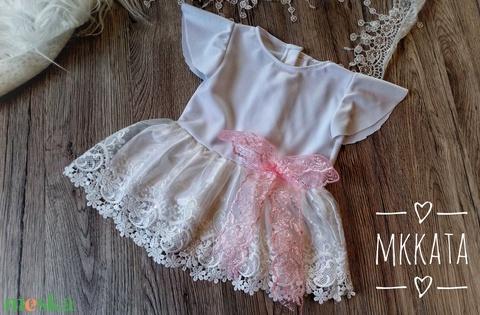 Alkalmi ,keresztelő kislány ruha 56-os méret  - ruha & divat - babaruha & gyerekruha - keresztelő ruha - Meska.hu