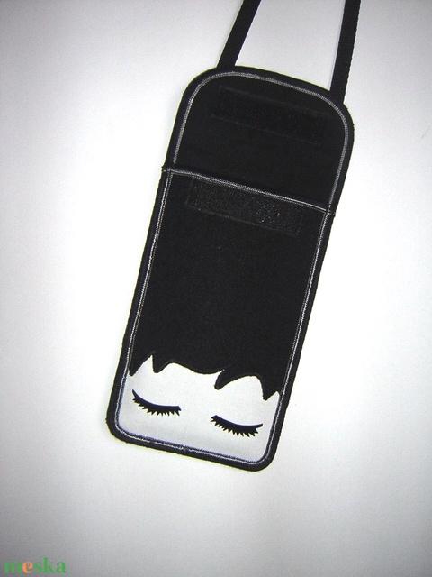 Mobiltartó  oldaltáska állítható pánttal  XL telefon tartó Nyakba akasztható kistáska - Meska.hu