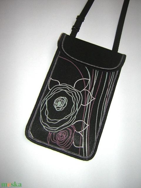 Mobiltok állítható pánttal  XL telefon tartó Nyakba akasztható kistáska - Meska.hu