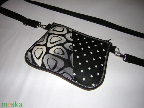Övtáska  kis táska  fekete-fehér - Meska.hu