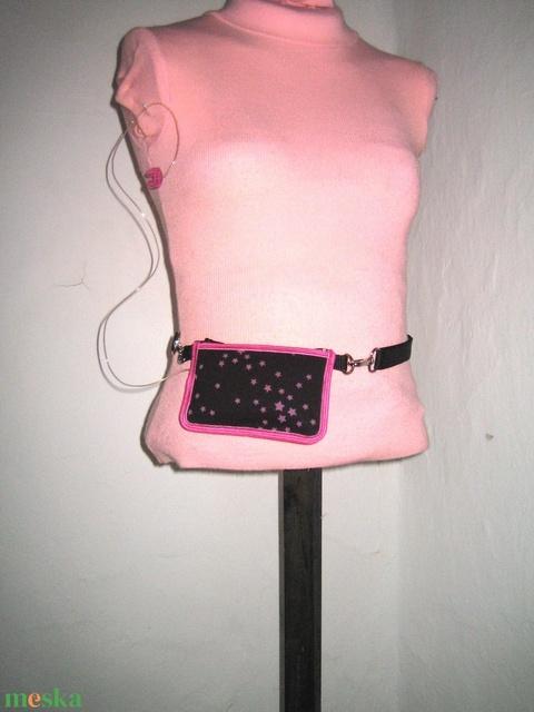 Insulin pumpa tartó tok 2in1 Mickey egér- pöttyös Fekete-Fehér-Pink - Meska.hu