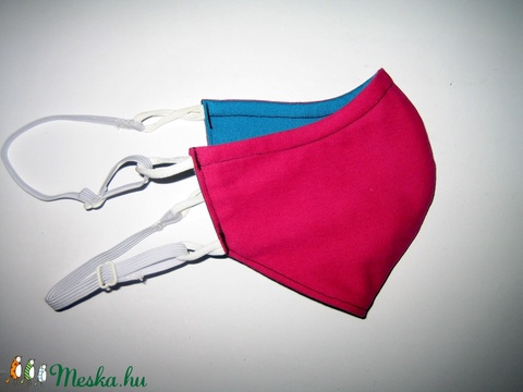 Pink-türkiz szájmaszk szabályozható gumival arcmaszk biciklis maszk türkiz-pink  - Meska.hu