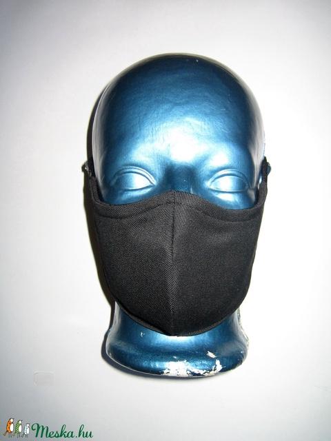 Egyedi - szájmaszk szemüvegeseknek drótos állítható gumival arcmaszk Fekete biciklis maszk  - Meska.hu