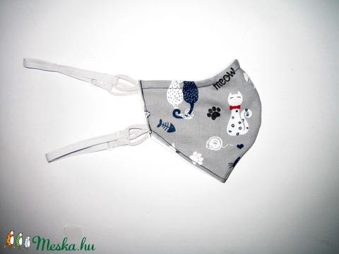 Minőségi Szájmaszk szabályozható gumival arcmaszk textil maszk cicás - Meska.hu