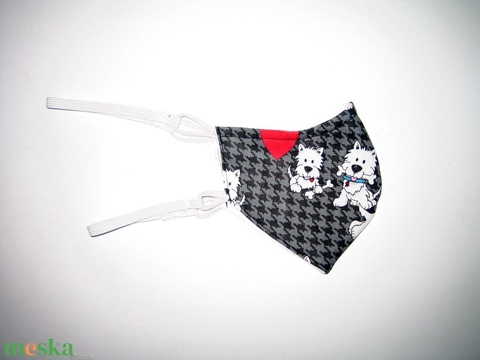Kutyusos Szájmaszk szabályozható gumival arcmaszk biciklis maszk  - maszk, arcmaszk - női - Meska.hu