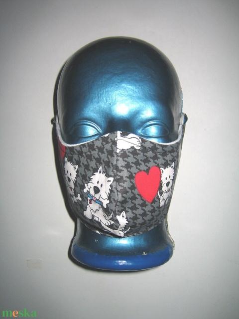 Kutyusos maszk orrmerevítős fülre akasztható többször használható arcmaszk   - Meska.hu