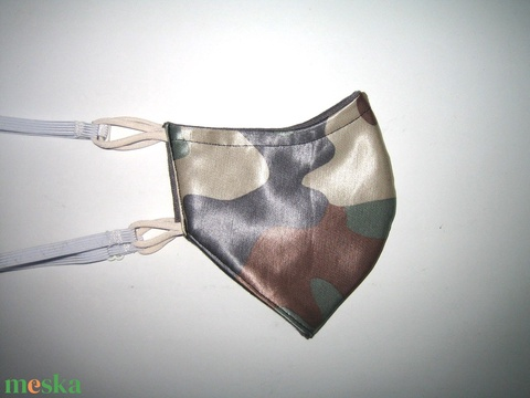 Terepmintás női szatén szájmaszk állítható gumival - Meska.hu