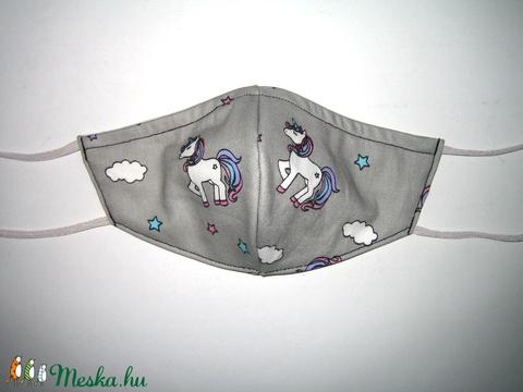 Gyerek Szájmaszk  kislányos Unikornis textil maszk - Meska.hu