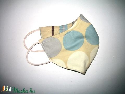 2in1 egyedi Szájmaszk arcmaszk biciklis maszk  pasztell színű pöttyös-csíkos - Meska.hu