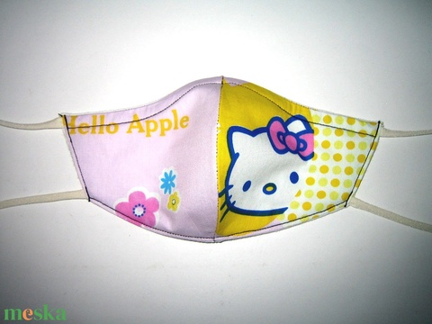 Gyerek Szájmaszk kislányos Hello Kitty  textil maszk - Meska.hu
