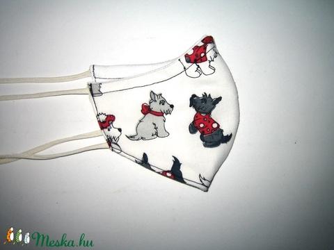 Gyerek Szájmaszk  kutyusos textil maszk - Meska.hu