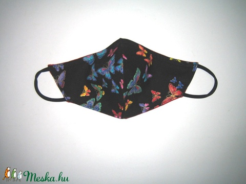 Maszk drótos fülre akasztható arcmaszk egyedi maszk lepkés  - Meska.hu