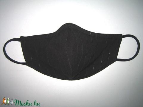 Alkalmi orrmerevítős női szájmaszk fülre akasztható fekete-ezüst - Meska.hu