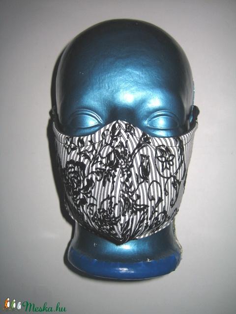Orrmerevítős Szájmaszk fülre akasztható arcmaszk biciklis maszk  csíkos-pöttyös - Meska.hu